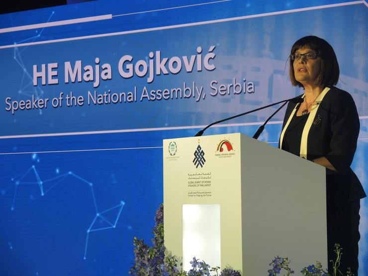 Maja Gojković Svetski samit zena Abu Dabi