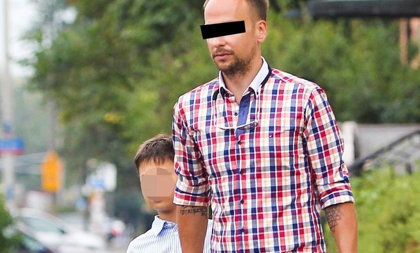 Dariusz Krupa z synem Alanem