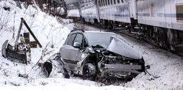 O krok od tragedii w Poroninie. Kierowca uderzył w pociąg