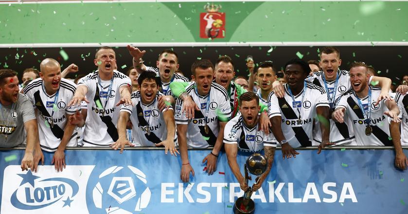 Legia Warszawa mistrzem Polski. W 2016 roku klub awansował do Ligi Mistrzów