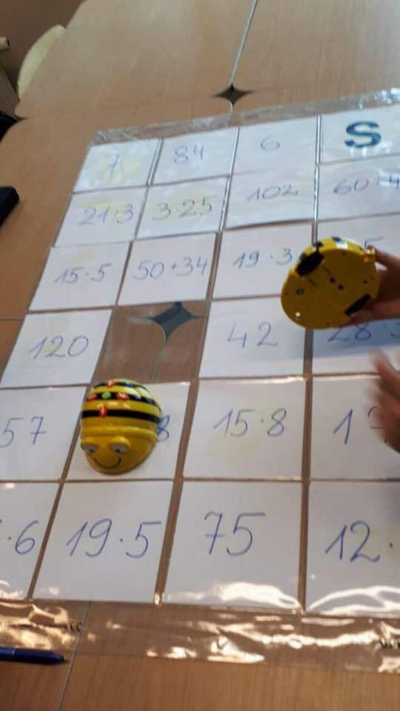 Đaci moraju da isprogramiraju kretanje pčele