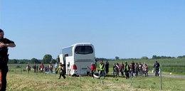 Wypadek autokaru z dziećmi. 4 osoby w szpitalu