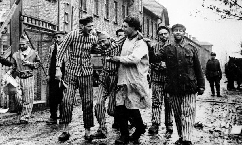 To zdjęcie przedstawia przedsionek piekieł - niemieckiego nazistowskiego obozu koncentracyjnego KL Auschwitz. Na fotografii uwieczniono chwile, gdy obóz wyzwalali żołnierze Armii Czerwonej.