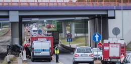 Przerażający wypadek na A1. Auto spadło z wiaduktu