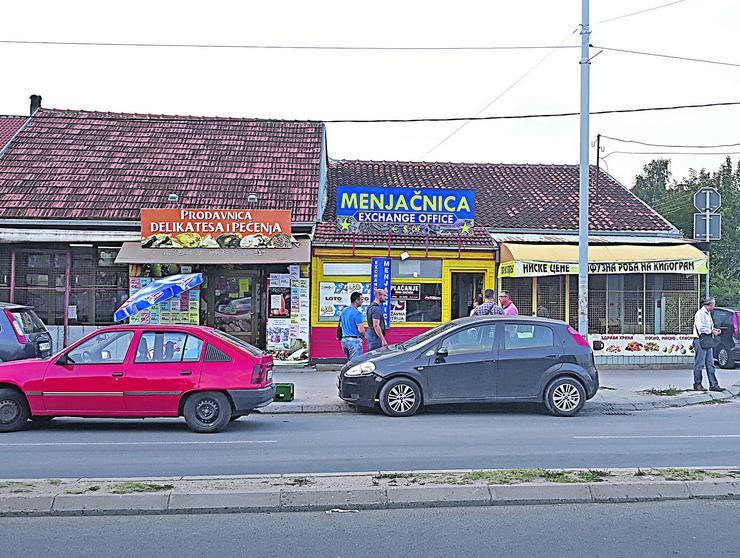 NIS02 Uvidjaj posle pokusaja pljacke menjacnice u Donjoj Vrezini foto Branko Janackovic