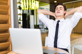 posao, radno mesto, sedenje