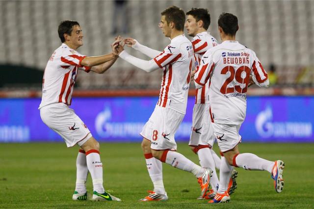 Fudbaleri Crvene zvezde koji su 2012. godine osvojil Kup Srbije
