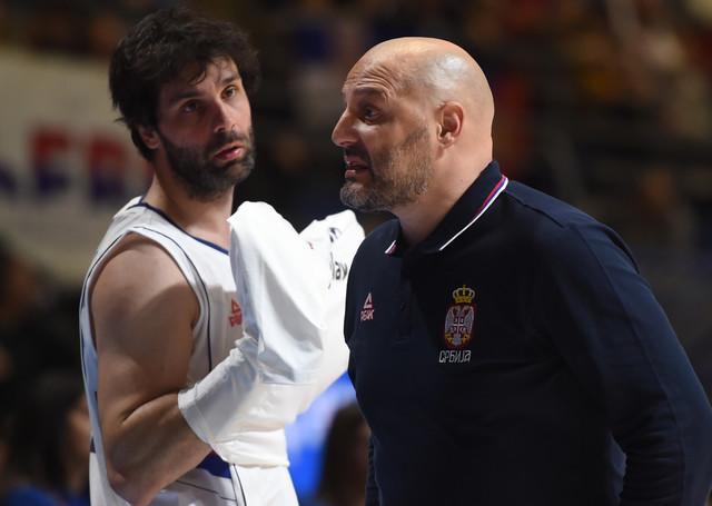 Miloš Teodosić i Aleksandar Đorđević u razgovoru
