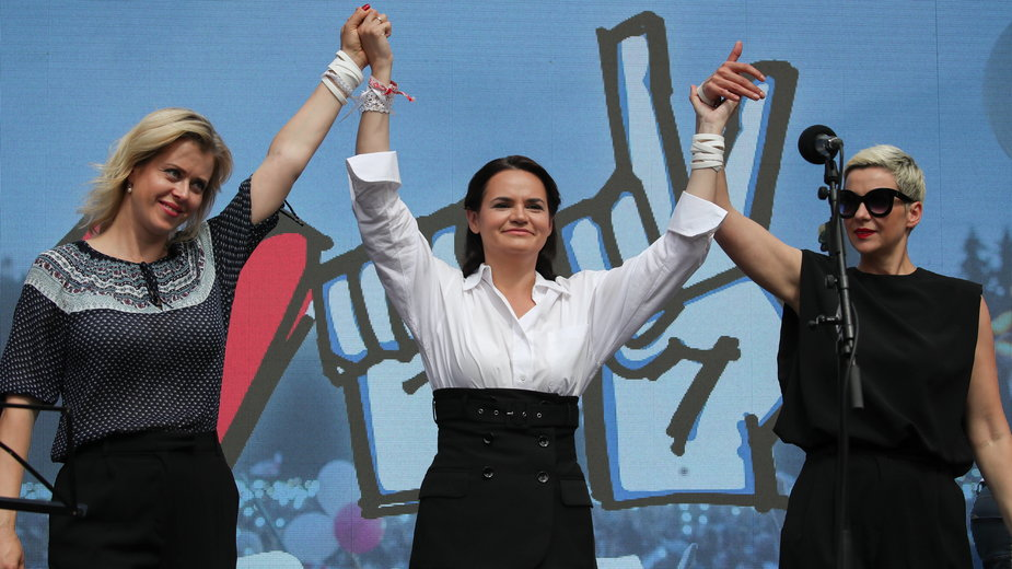Weranika Capkało, Swiatłana Cichanouska oraz Maria Kolesnikova