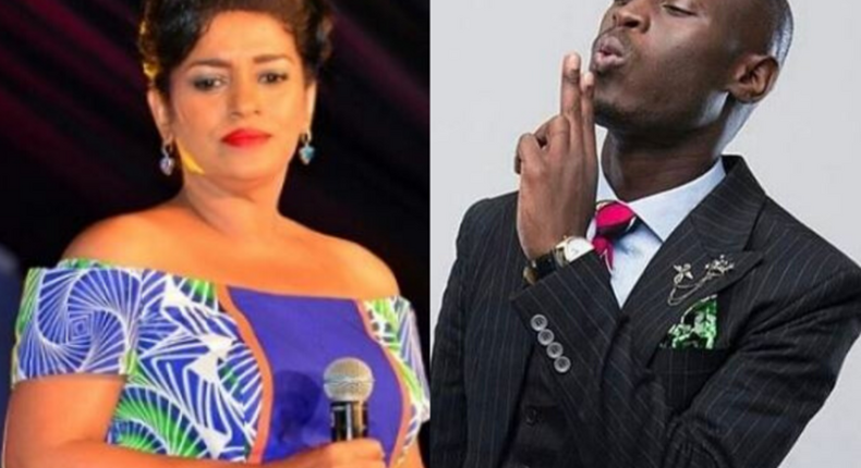 A collage image of Esther Passaris and King Kaka