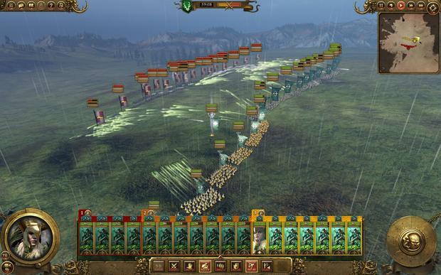 Total War: Warhammer - bitwa testowa, armia elfich łuczników vs imperialni kusznicy i muszkieterzy. Ludzie w tym starciu byli bez szans