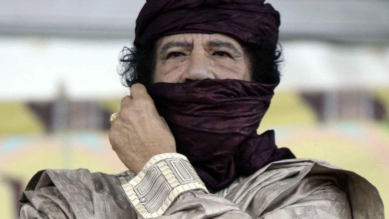 Muammar Kaddafi, fot. PAP/EPA