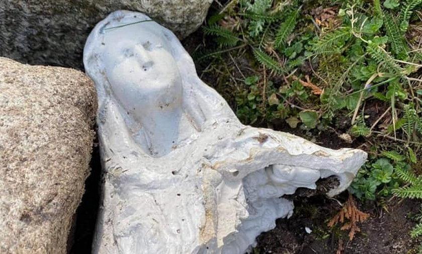 Koszalin. Wandale zniszczyli figurę Matki Bożej