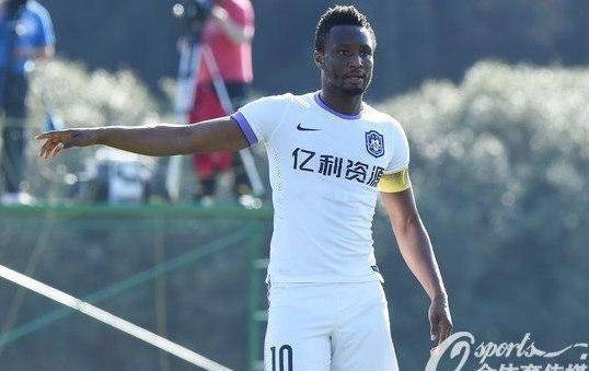 John Mikel Obi had an underwhelming stint in China where he missed 29 games out of 20 (Twitter/Tianjin TEDA)