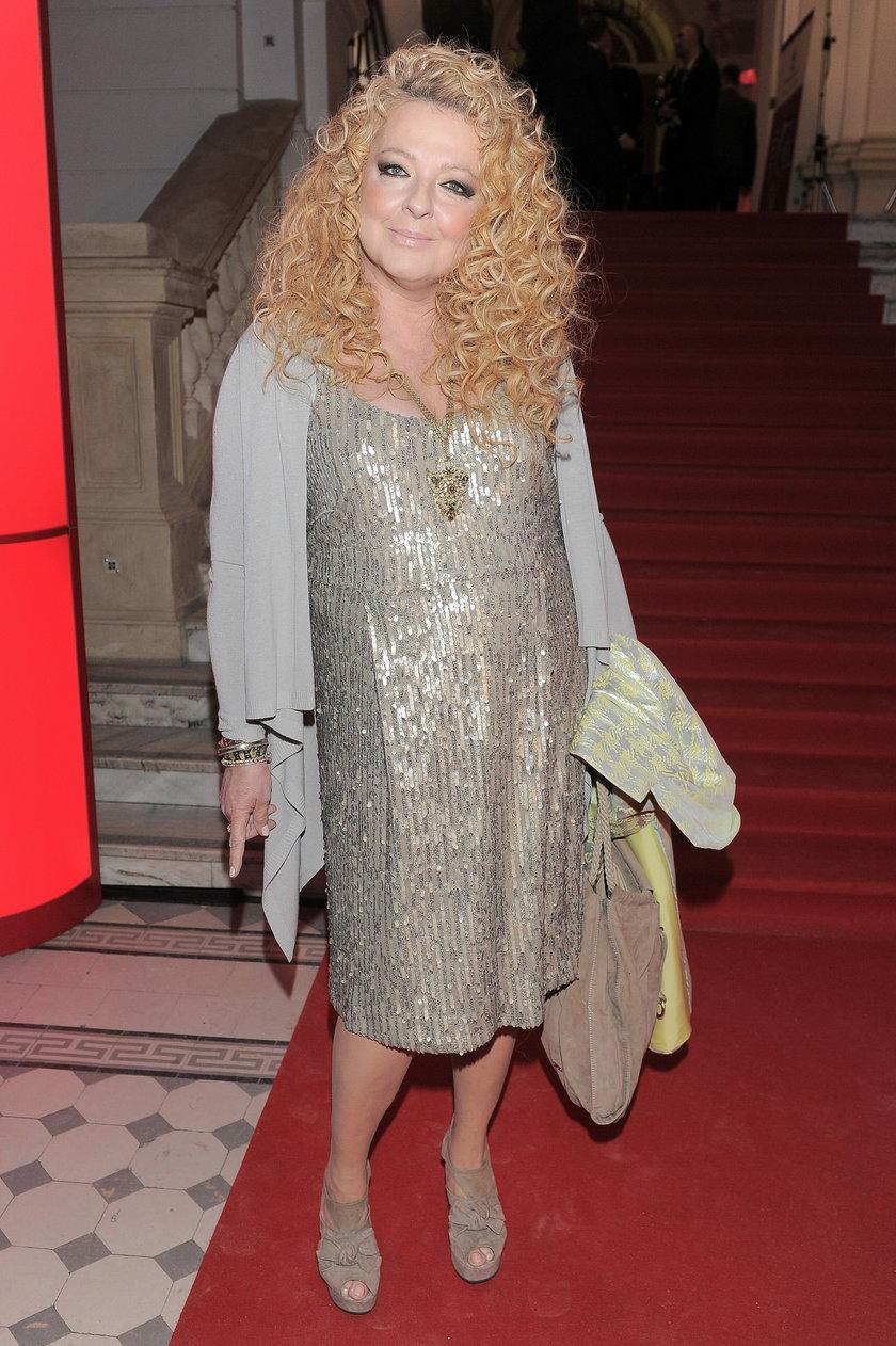 Magda Gessler w cekinowej sukience