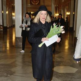Magdalena Schejbal na premierze w Teatrze Wielkim