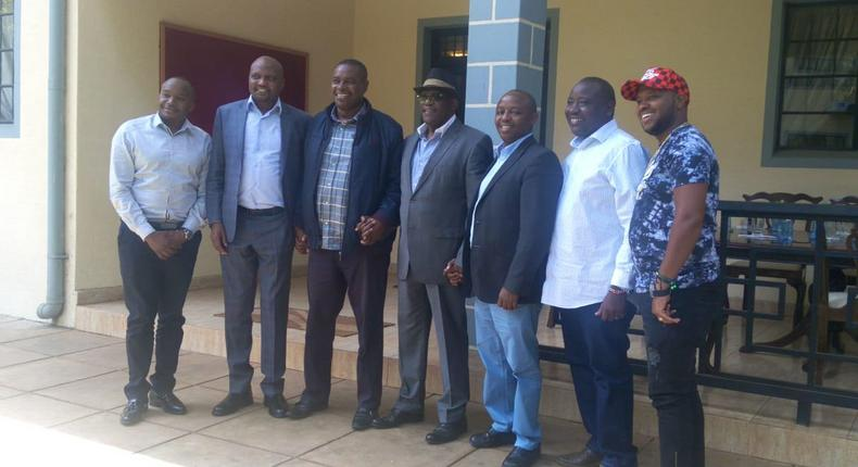 Hon Jaguar (Starehe), Hon George Theuri (Embakasi West) , Hon Simon Mbugua (EALA) , Hon Makali Mulu (Kitui Central) and former Machakos Senator Johnstone Muthama