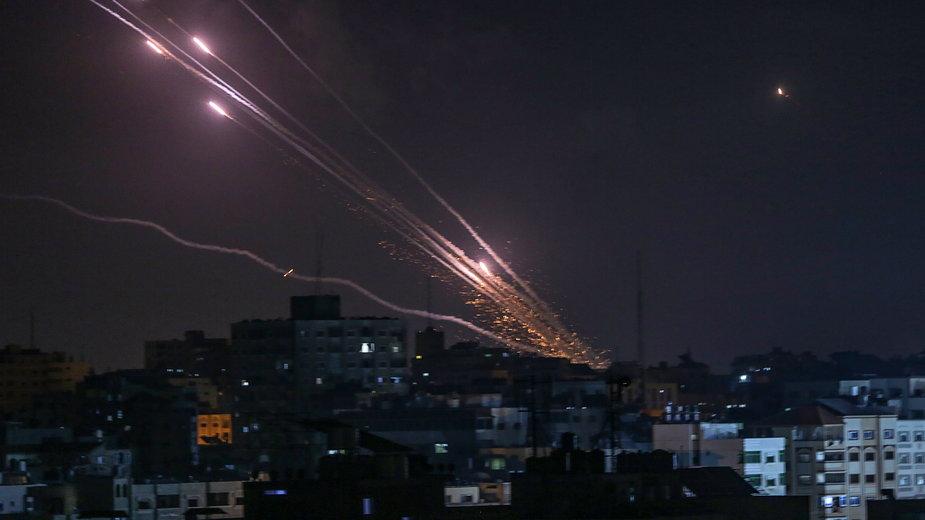 Rakiety wystrzeliwane w stronę Izraela ze Strefy Gazy