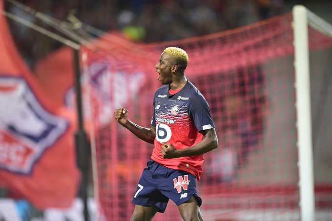 Victor Osimhen has scored four goals for Lille already this season (Twitter/Lille)