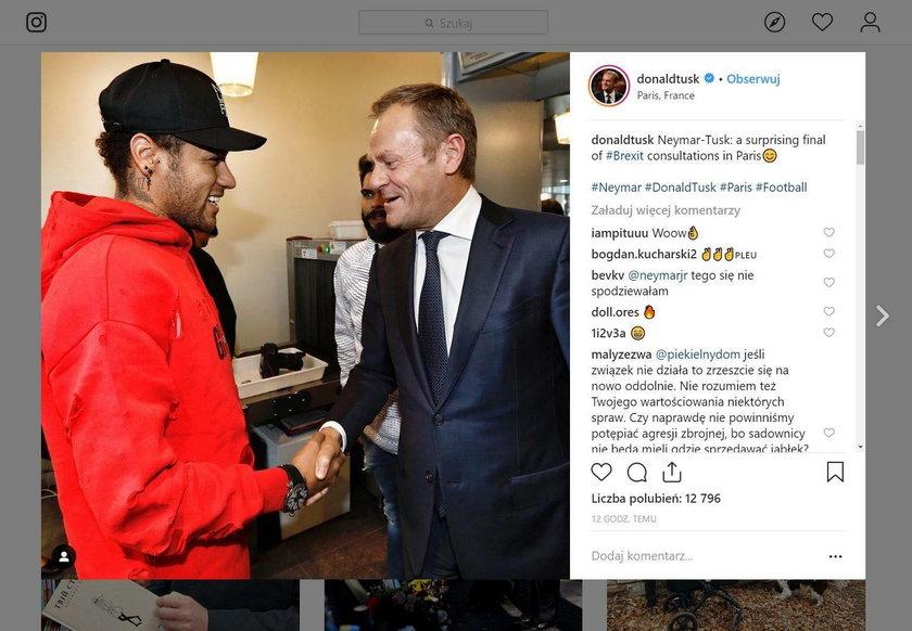 Donald Tusk spotkał się z gwiazdą futbolu