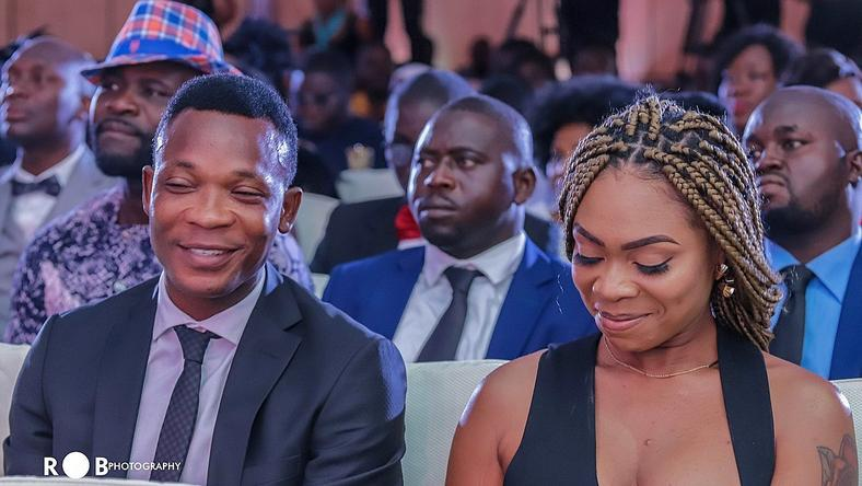 John Paintsil and Shatta Michy at the Ghana Football Awards