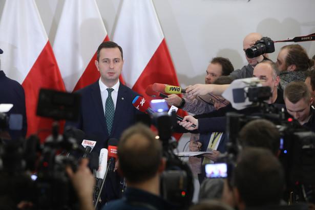 Przewodniczący PSL Władysław Kosiniak-Kamysz po spotkaniu liderów partii sejmowych z marszałkiem Senatu.
