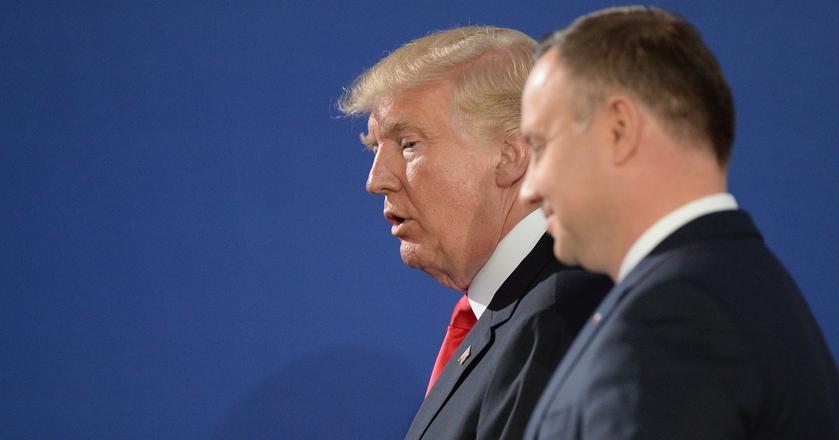 Donald Trump wylatuje z Polski z dobrymi umowami