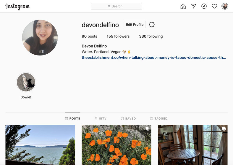 How to put spaces in Instagram bio 5