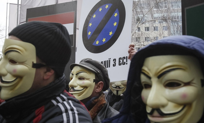 Ukraina protesty antyUE