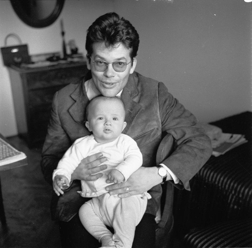 Zbigniew Cybulski z synem Maciejem