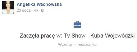 Angelina Wachowska na Facebooku
