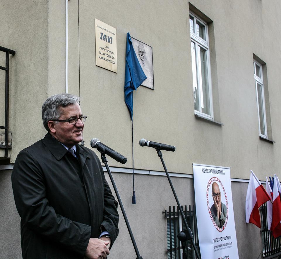 Odsłonięcie tablicy upamiętniającej Władysława Bartoszewskiego