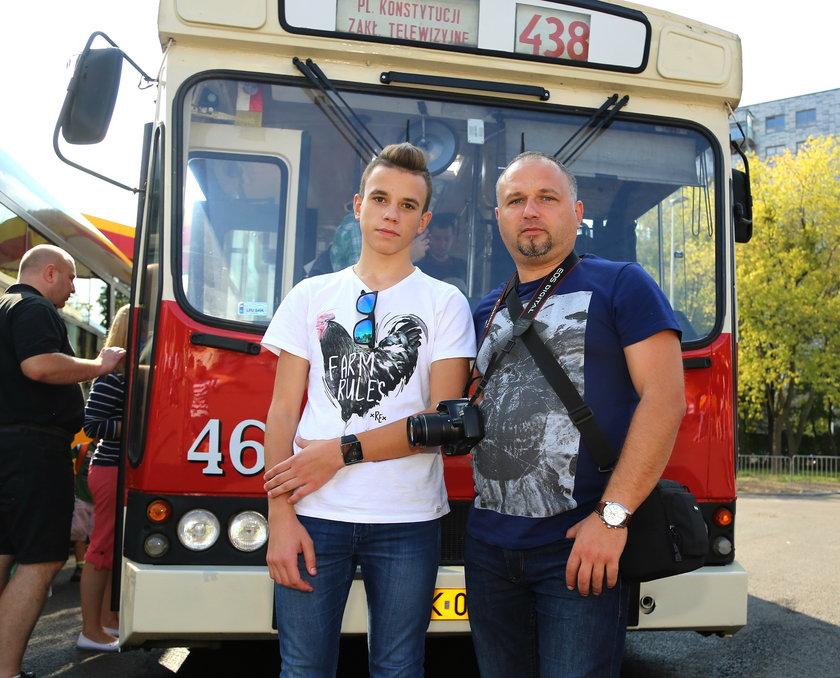 Grzegorz Witkowski (40 l.) z synem Jakubem (15 l.)