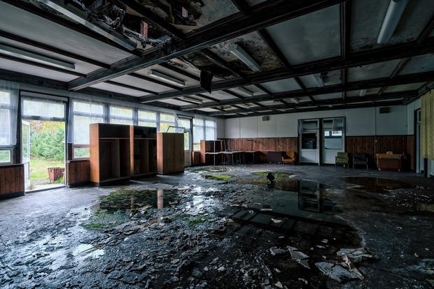 Opuszczony ośrodek wypoczynkowy w Inowłodzu