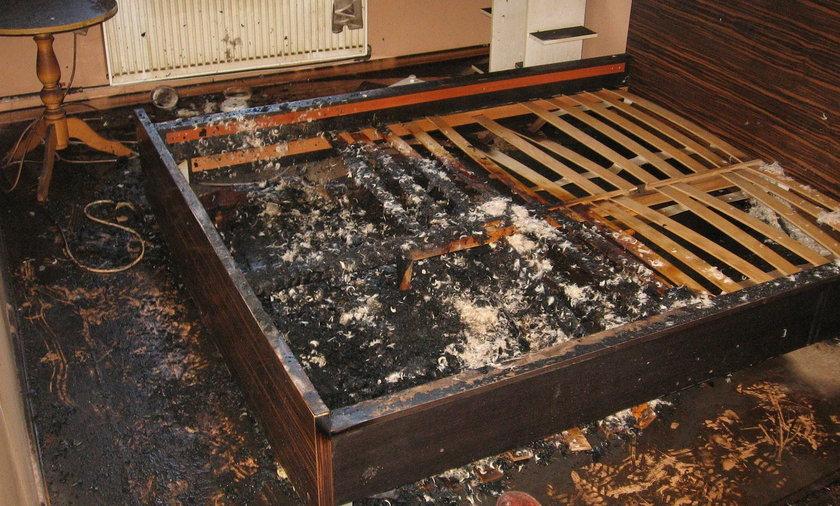 Mężczyzna spłonął we własnym łóżku