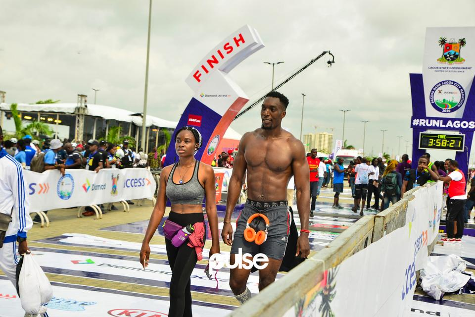 Guests get to the finish line at Access Bank Lagos City Marathon 2019