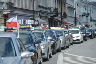 Taksówkarze protestowali przeciwko działalności nielegalnych przewoźników