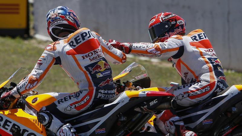 Dani Pedrosa (L) i Marc Marquez