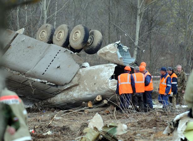 Katastrofa smoleńska: Wrak Tu-154.