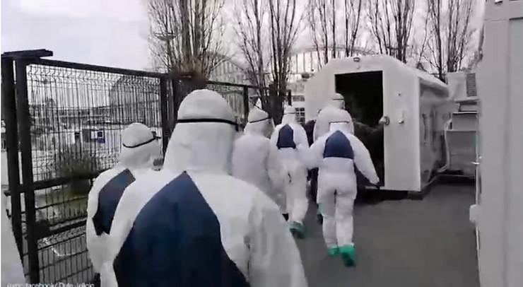 Beogradski sajam, tunel za dezinfekciju