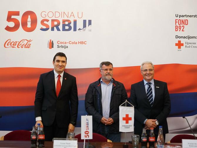 Svetoslav Atanasov, generalni direktor Coca-Cola HBC SrbijaVeran Matić, direktor Fonda B92 i Prof.dr Dragan Radovanović predsednik Crvenog krsta