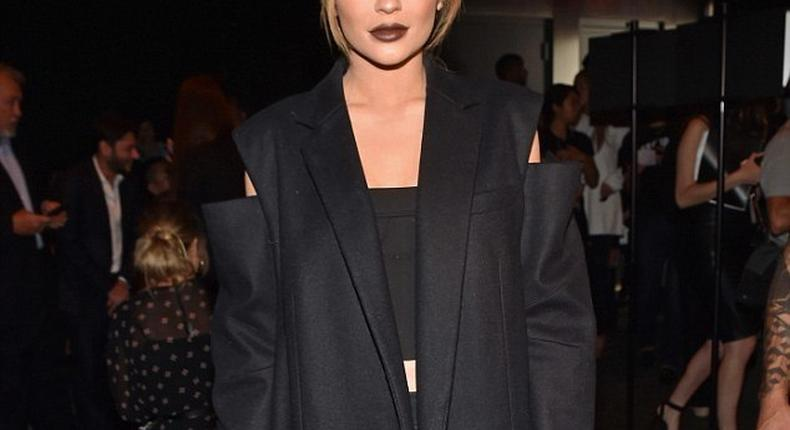 Reality star, Kylie Jenner rocks her most modest look yet to the New York Fashion Week