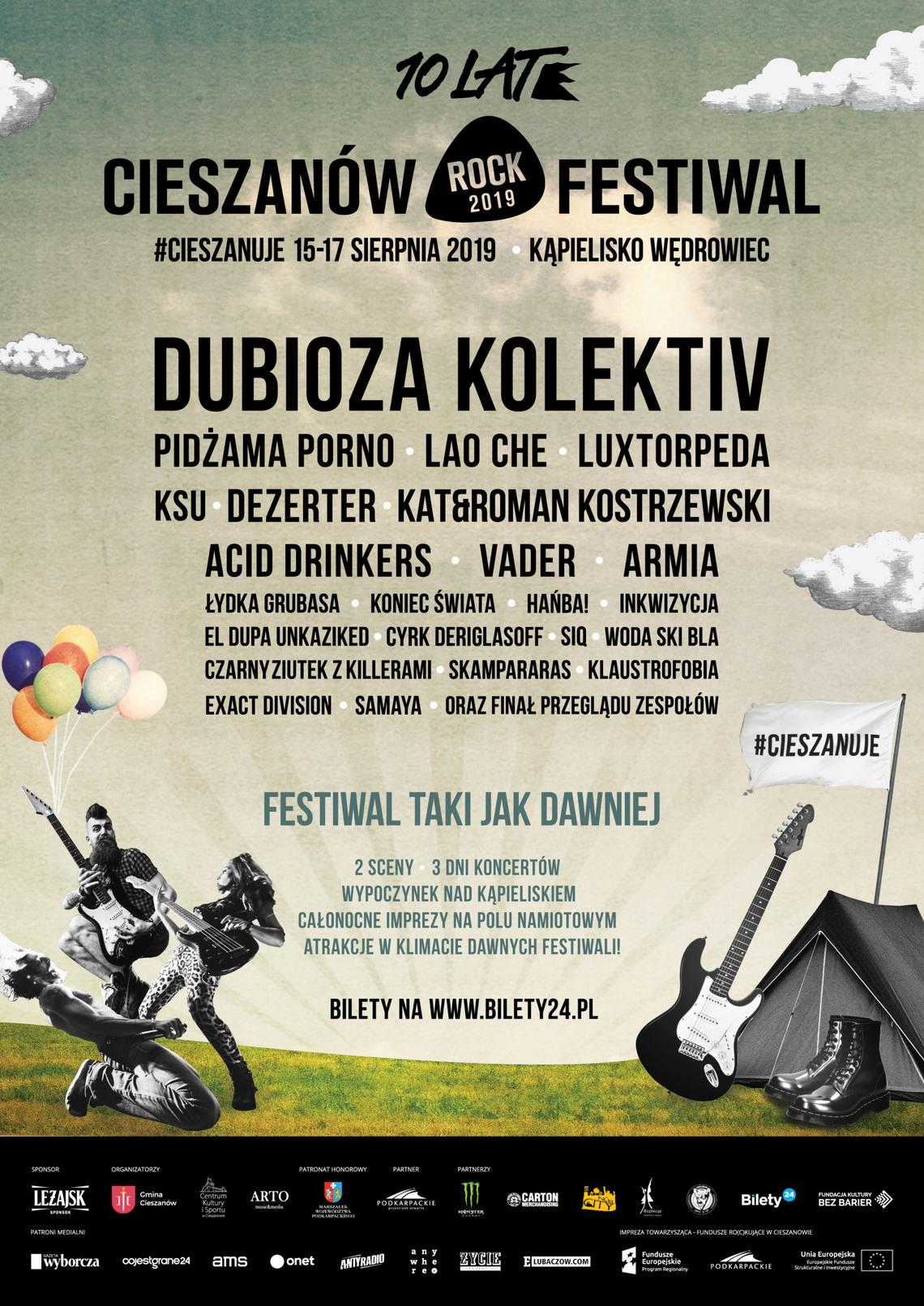 Plakat promujący Cieszanów Rock Festiwal