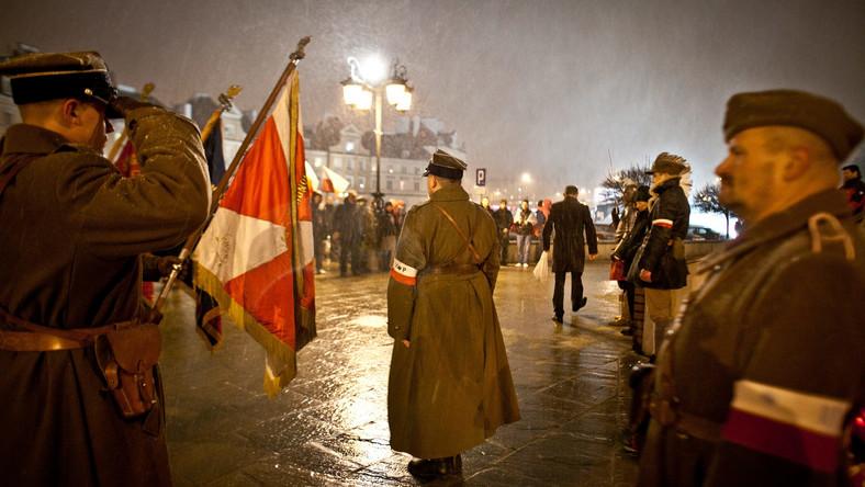 Marsz pamięci w Lublinie zorganizowany przez Obóz Narodowo-Radykalny i środowiska prawicowe