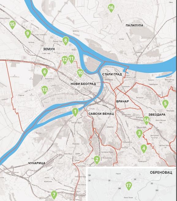 Mapa gde će biti novi vrtići