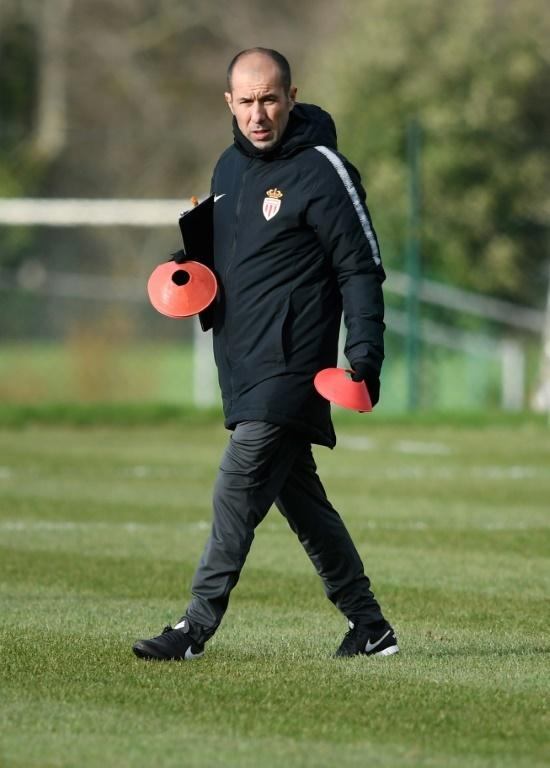 Leonardo Jardim overseeing training after his return to Monaco