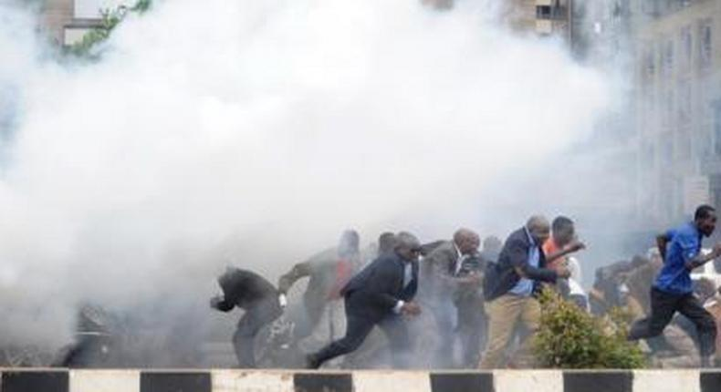Police fire teargas to disperse crowd