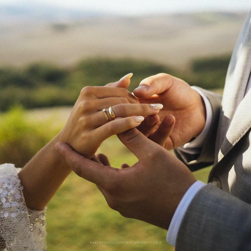 Ślub Agnieszki Kaczorowskiej i Marcina Peli