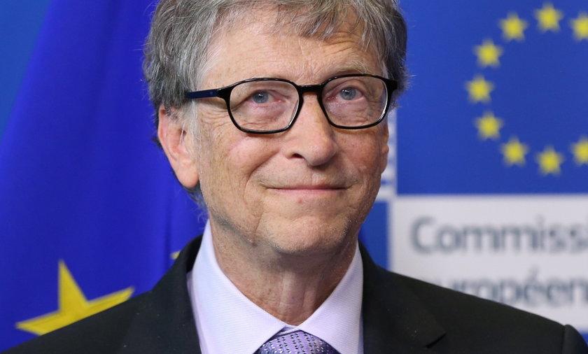 Na zdjęciu Bill Gates, założyciel Microsoftu i jeden z najbogatszych ludzi świata, na spotkaniu z przedstawicielami Unii Europejskiej w Brukseli w 2018 roku.