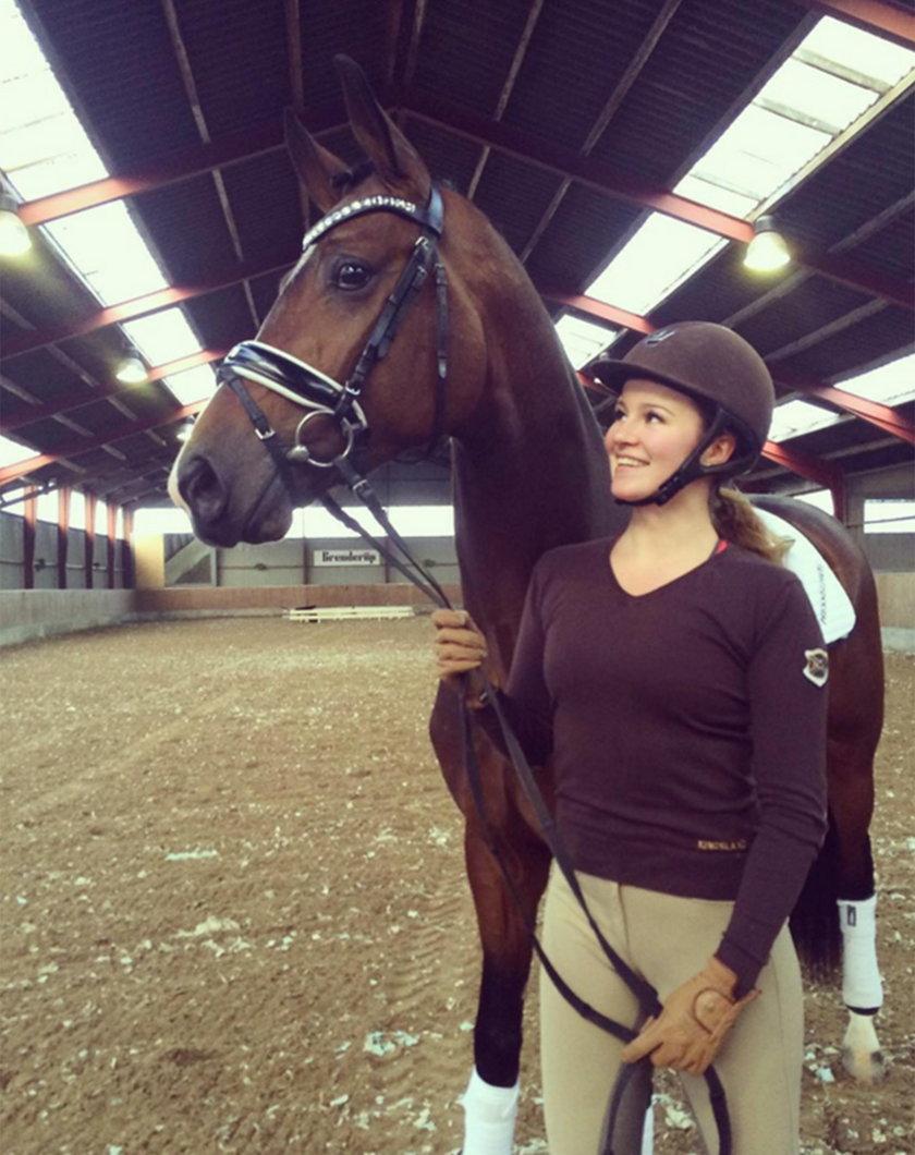 Alexandra Andresen z koniem